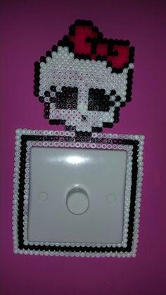 Monster High Hama Beads light switch surround