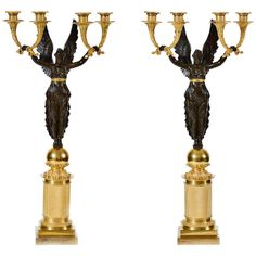 A Pair of Early 19th c. Candelabras | From a unique collection of antique and modern candleholders and candelabra at http://www.1stdibs.com/furniture/lighting/candleholders-candelabra/
