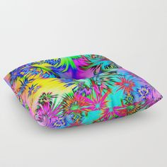 Alive 4 Floor Pillow by mehrfarbeimleben Floor Pillows, Bean Bag Chair, Flooring, Abstract, Products, Decor, Decoration, Decorating, Floor Cushions