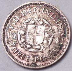 Amazon.com : GREAT BRITAIN 1941 3 PENCE SCU333FF...FOREIGN COIN : Everything Else