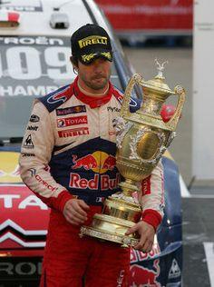 Podium: winner and 2009 WRC champion Sébastien Loeb