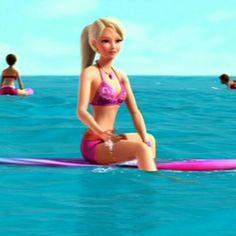 Girl enjoying herself in sea