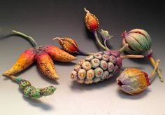 doreen kassel: colorful polymer pods | Daily Art Muse