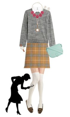 """""""Style Inspiration: Nancy Drew"""" by disneyfashions13 ❤ liked on Polyvore featuring Steffen Schraut, Dune, Ornamental Things, BERRICLE, Henri Bendel, ZALORA and Marc by Marc Jacobs"""