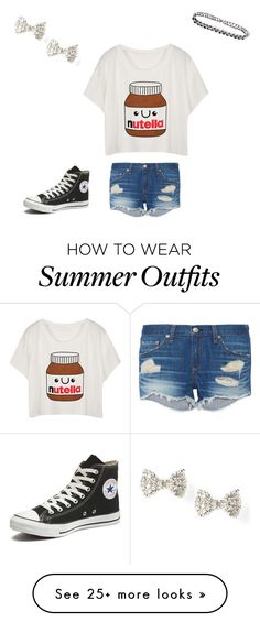 """""""Cute summer outfit"""" by mrrosen on Polyvore featuring rag & bone, Converse, women's clothing, women's fashion, women, female, woman, misses and juniors"""