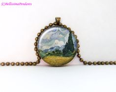 Wheat Field with Cypresses Vincent van Gogh by BellissimaPendants, $12.95
