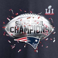 Men's New England Patriots Pro Line by Fanatics Branded Navy Super Bowl LI Champions Confetti T-Shirt 4