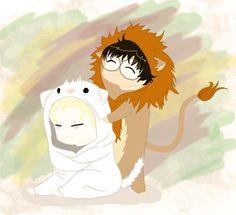 Chibi Harry and Draco by Levicorpus.deviantart.com on @DeviantArt
