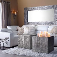 Style Tip: enliven a neutral palette with natural, organic accents.