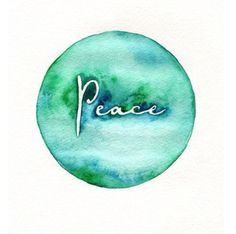 Items similar to Peace on Earth / watercolor print / teal / light green / aqua / on Etsy Peace On Earth, World Peace, Peace Of Mind, Peace And Love, Peace Art, Give Peace A Chance, Paz Interior, Hippie Peace, Illustration