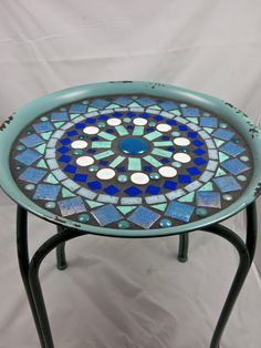 Mosaic Side table or plant stand by CareWare on Etsy