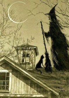 Waining Halloween Moon
