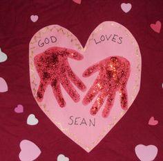 """How to Make a Glitter Hands Heart """"God Love ME"""" Kids Bible Craft"""