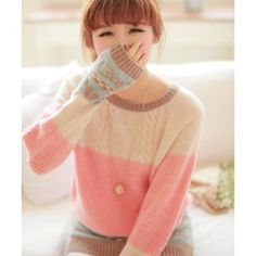 Jacquard love knot sweater JCHC.  I need to get my korean on.