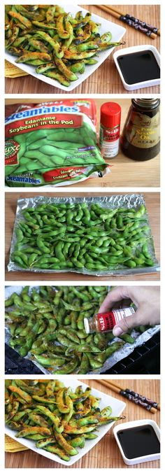 Spicy Grilled Edamame Snack! Minus the spicy for me! Maybe garlic and onion powder..