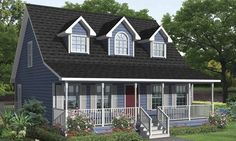Bye bye, blues. Helloooooo, little blue charmer. Wraparound porch for the win! We Build For Life at UBH.