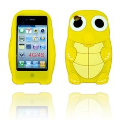 BYG Yellow Turtle Dinosaur Silicone 3d Case Cover for Iphone 4 4g/4s + Gift 1pcs Phone Radiation Protection Sticker by animal devise, http://www.amazon.com/dp/B00CMS1ID6/ref=cm_sw_r_pi_dp_cOPHrb119YR1T