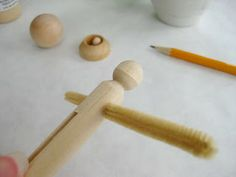 Piccalilli Days: Made a Lily - Step 7   clothespin doll tutorial
