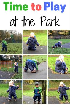 Time to Play at the Park - Going to the park is great idea for your baby, toddler or preschool child. A Playground is a Fun outdoor space filled with Swings, Slides and Roundabouts that all kids enjoy. Being outdoods and getting fresh air is good for them and better than being stuck indoors!