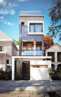 Architecture Design Of Small House small plot house with underground car parking. great design for a