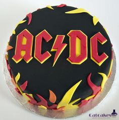 ACDC cake for a birthday.