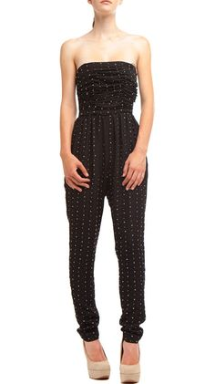 Studded Pant Jumper, Black