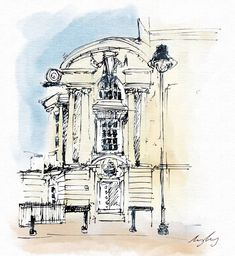 A little sketch I did of the old Stock Exchange building in Manchester... Currently being refurbed into @stockexhotel a boutique hotel by… A Boutique, Manchester, Taj Mahal, Amy, Original Artwork, Old Things, Sketch, Drawings, Building