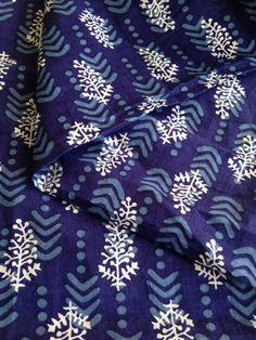 Check out Block Print Fabric, Indian Fabric, Indigo Fabric,Boho Print, Indian Cotton, Blue White print, Fabric By the Yard, Iight weight,Tribal Print on fiberstofabric