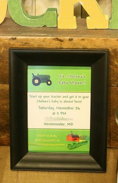 Celebrating the Moments: Rustic John Deere Baby Shower
