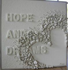 mirjam-buitenhuis-river-paintings-schilderij-diy-budgi-zelf maken Diy Wall Art, Diy Art, Canvas Wall Art, Diy And Crafts, Arts And Crafts, Cement Art, Sports Graphic Design, Craft Markets, Heart Crafts
