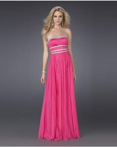 Don't think I'm a pretty young girl from pretty ol state2011 Style A-line Strapless Beading Sleeveless Floor-length Chiffon Prom Dresses / Evening Dresses (SZ038207 )