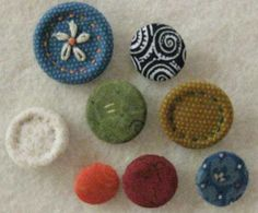 Fabric Covered Buttons | Quilt Patterns & Blocks | Angie's Bits 'n Pieces....make your own covered buttons..