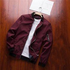 ae61907f09338 NaranjaSabor Spring New Men s Bomber Zipper Jacket Male Casual Streetwear  Hip Hop Slim Fit Pilot Coat Men Clothing Plus Size 4XL