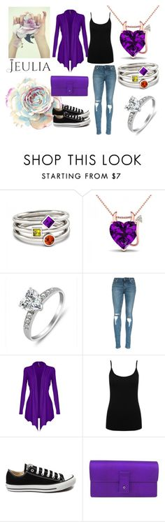 """I love jewelry with Jeulia"" by nejrasehicc ❤ liked on Polyvore featuring M&Co, Converse, Gucci, women's clothing, women, female, woman, misses, juniors and jewelry"