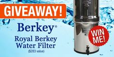 Giveaway: Big Berkey Water Filter — $283 Value