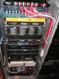 My home server rack. 44 processors, 114GB RAM, 36.8TB, 10GB Ethernet, lots of fun
