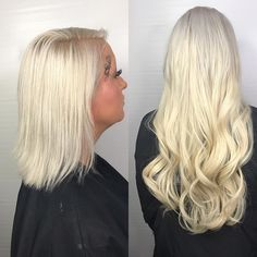 NOW OFFERING EHP HAIR EXTENSIONS These are by far the best tape in extensions. Call to schedule your new style at 619.794.2042 @easihairpro Before and after by @gigi_glamqueen