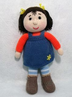 Toy doll knitting pattern. Nicki the Doll. I might start knitting dolls for charity...why not?