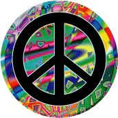 The peace sign was huge in their fashion. They wanted peace and love for everyone, so they expressed it. The peace sign was created in 1958 by a British guy.