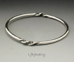 Silver Bangle Stacking Bangle Sterling Silver Bangle by LjBjewelry