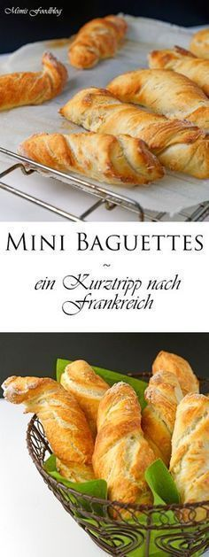Mini Baguettes sind knusprige und goldbraune Brötchen zum Frühstück, zur Brotzeit oder als Beilage zu Suppen und Eintöpfen.