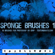 Sponge 1 Brush Pack for Photoshop or Gimp | texturemate.com - Free Textures, Brushes, Patterns, and Design Articles!