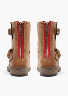 boots with cute, red zips