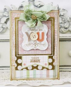 Thankful For You Card by Melissa Phillips for Papertrey Ink (July 2012)
