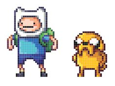 Adventure-time-pixels  Okay I don't like the series of adventure time... but my geeky side couldn't help it!