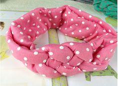 1 piece 5 colors Baby Hair Accessories Girl Cross Knot Headwear Baby turban dots  Headband Children headwrap #Affiliate