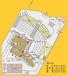 岡崎城二の丸能楽堂平面図