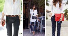 Diferentes formas de usar sua camisa branca   Danielle Noce