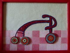 Βicycle ( The wheels can turn) mosaic from  Eftychia Finou