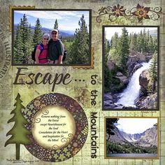 Hiking scrapbook page
